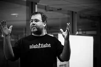 Ben Platz teaching about nightlight